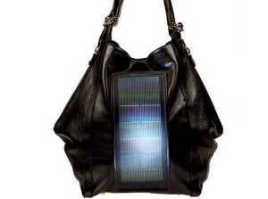 loeffler randall bag with solar panel and LED light